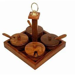 Wooden Pickle Jar Box
