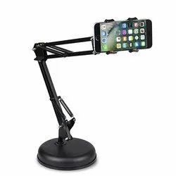 Black Heavy Duty Iron Desktop Microphone Mobile Phone Stands, Size: Adjustable