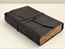 Leather Cover Journal With DeckleEdge Paper Handmade