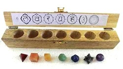 Arihant Crystal Chakra Sacred Geometry Set with Box, Quantity Per Pack: 1