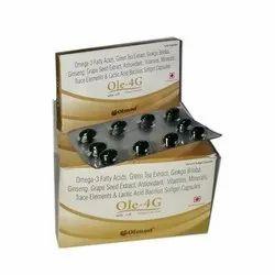 Omega 3 Fatty Green Tea Extract Ginkgo Biloba Ginseng grape Seed Softgel Capsules