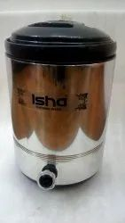 SS Round Isha Water Jug Thermosteel Stellar ( Black 15 Ltrs) For Restaurant