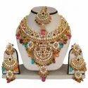 Brass Fns-051g Multicolor Wedding Necklace Set