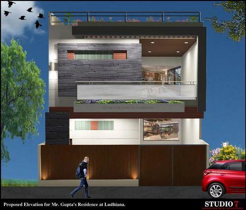 House Design At Ludhiana India: Residence Elevation Design In Ludhiana, Urban Estate Dugri