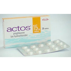 Actos Pioglar Pioglitazone Tablets, Packaging Size: 28 Tablets, for Clinical