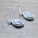 925 Sterling Silver Royal Jewelry Rainbow Moonstone New Earring We-5442