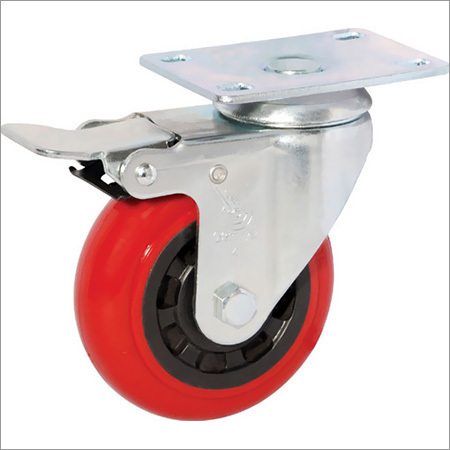 Red Caster Wheel, Load Capacity:100 to 800kg