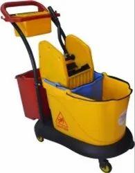 Triple Bucket Wringer Trolley