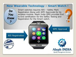 Bis Certificate For Smart BIS Registration for Smart Watch