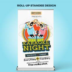 2D Roll Up Standee Graphic Design and Print
