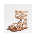 Brown Leather Roman Sandals