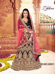 61df6c1591 Bridal Fully Diamond & Embroidery Worked Lehenga Choli