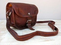Vintage Leather Landscape Sling Bag