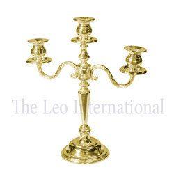 Decorative 3 Arm Brass Metal Candelabra
