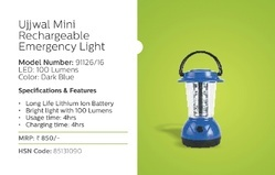 Philips Ujjwal Mini Rechargeable Emergency Light Model Number 91126/16