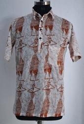 Hand Block Printed Cotton Mens Shirt
