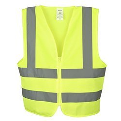 V4you Polyester Reflective Safety Jacket, Construction, Traffic Control, Auto Racing, Sea Patrolling