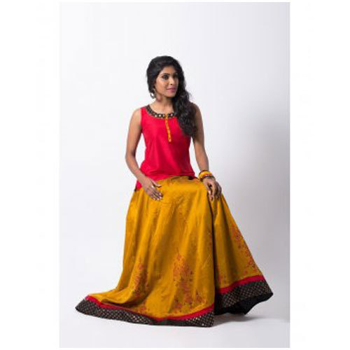 43ef160a46 Maybell Printed Chanderi Skirt Top, Rs 2199 /piece, Opus Fashions ...