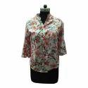 Medium And Xl Ladies Flower Printed Shirt