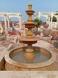TEAK SANDSTONE WATER FOUNTAIN