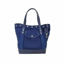 Loop Handle Simple Ladies Designer Tote Bags, Size/Dimension: 35 H X 44 W X 15 CM
