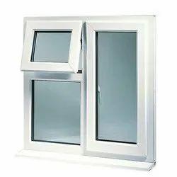 Casement White UPVC Combination Window, Glass Thickness: 2 To 4 Mm