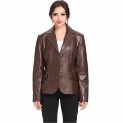 Ladies Fancy Leather Coat