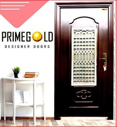 Ms Brown Wood Finished Exterior Steel Door, Size: 81*42 Inch, Thickness: 70 Mm