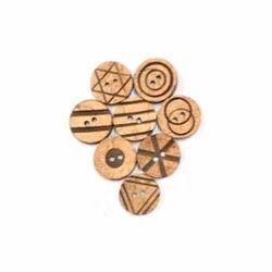 Round Shirt Wooden Buttons