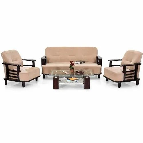 Wood Elahi Designer Sofa Set, Back Style: Cushion back
