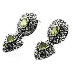 Stunning Peridot 925 Sterling Silver Earrings