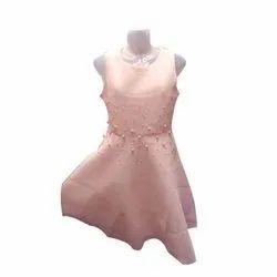 Casual Wear Sleeveless Ladies Round Neck One Piece Dress
