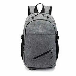Nylon Plain School Backpack