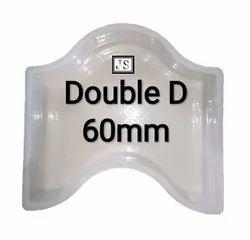 Double D Silicone Plastic Paver Mould