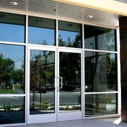 Silver Hinged Glass Doors Installation Service