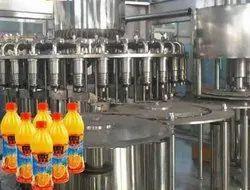 Litchi / Pulp Juice Filling Machine High Capacity Semi- Automatic Machine