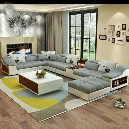 Skf Decor L Shape Sofa For Living Room, Living Room L Shaped Sofa