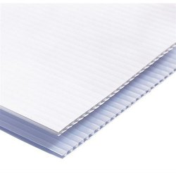 White PP Corrugated Sheet