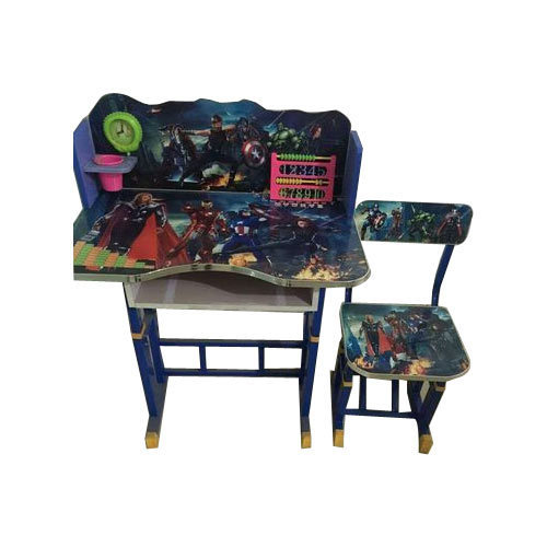 Kids Printed Study Table And Chair Set Age 4 To 8 Year