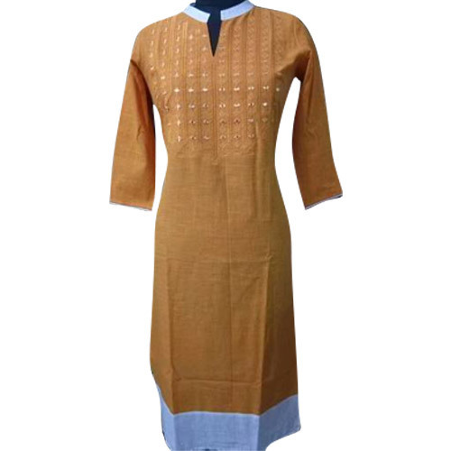 Stand Collar Designs For Kurti : Medium cotton ladies stand collar kurti rs piece s