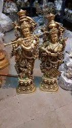 4 Feet Brass Radha Krishna