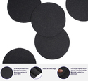 Charcoal Black Round  Cotton Woven Table Place Mat