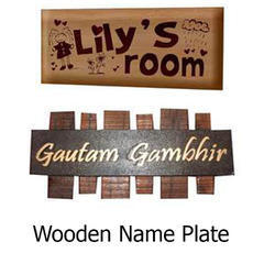 Wooden Name Plate at Best Price in India