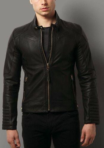 94f23fcef02ee Men Leather Black Jacket