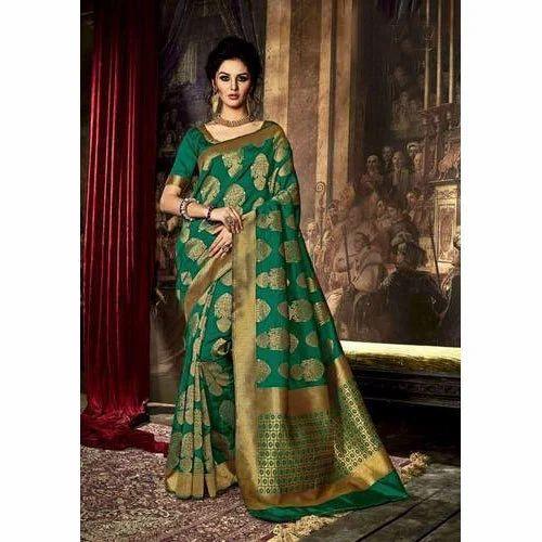 89e2dbd0df Printed Wedding Wear Designer Banarasi Saree, Rs 2000 /piece   ID ...