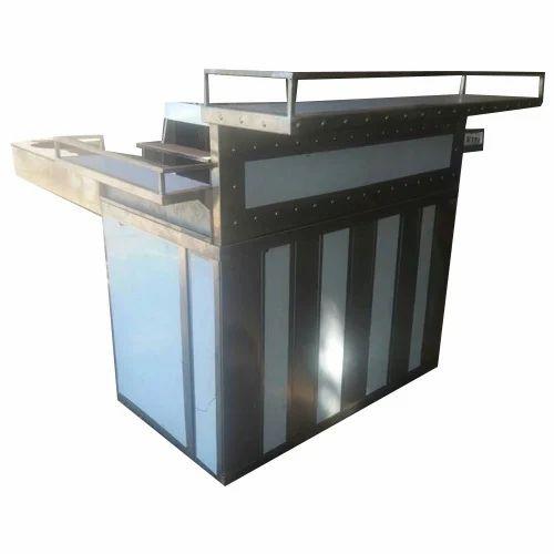 Tip Top Rectangular Modern Display Counter