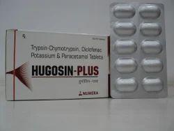 Trypsin-Chymotrypsin Diclofenac & Paracetamol Tablet