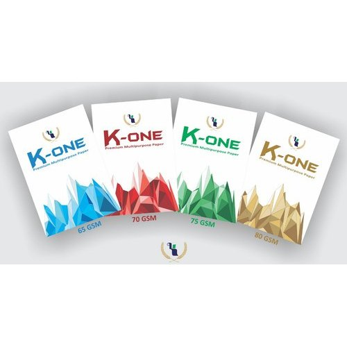 White kone A4 Paper, Packing Size: 500 Sheets Per Pack, Packaging Type: Packet