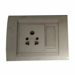 White 10 Amp Anchor Electrical Switches, One Way