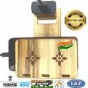 Wooden Portable Wall Mobile Charging Holder, Size: Large